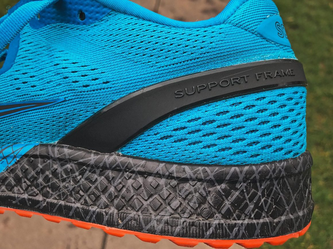 Saucony Freedom ISO - Close up on the heel area