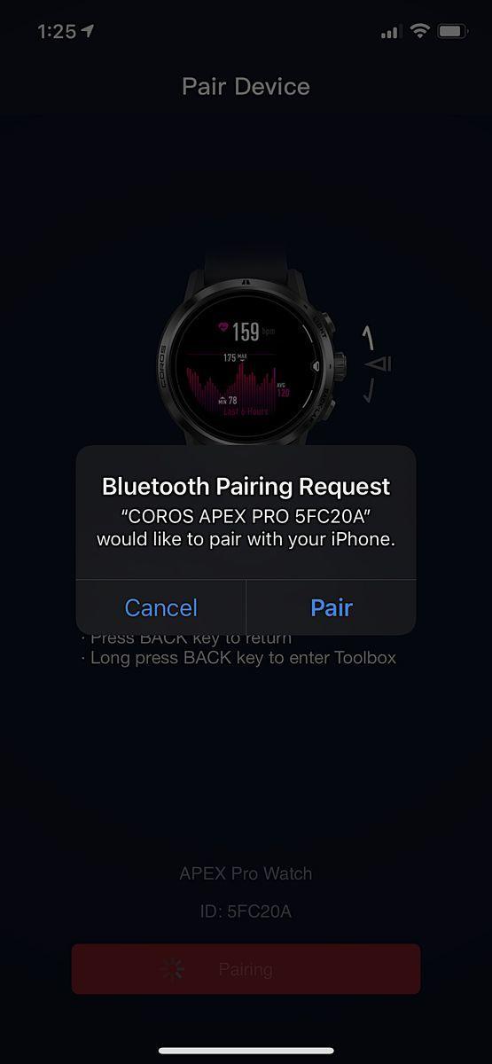 COROS Apex Pro App 5
