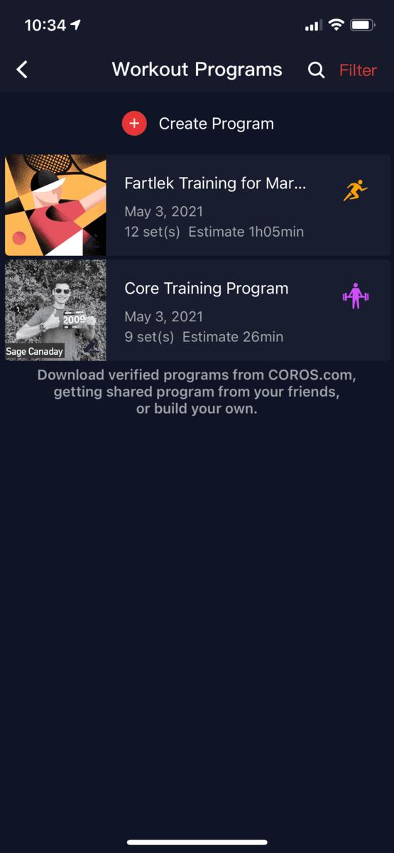COROS Apex Pro App 7